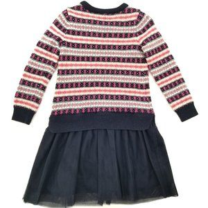 Baby Gap Blue and Pink Sweater Dress Size 4T